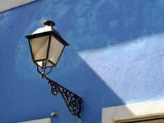 Close up of a street lamp; Old San Juan