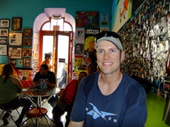 Robby chlling inside Ben & Jerry's; Old San Juan. The food here is *really* good!