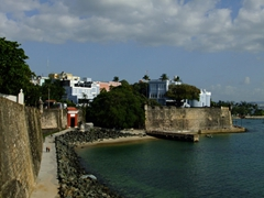 The walls of Old San Juan are up to 20 feet thick and up to 40 feet tall