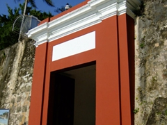The Puerta de San Juan dates from the 1700s. It is one of 6 heavy wooden doors in the wall which for centuries were closed at sundown to cut off access to the city and protect the city from invaders