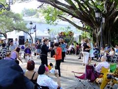"""Impromptu dancing at the """"Atresania Puertorriquena"""", an open air arts/crafts fair; Old San Juan"""
