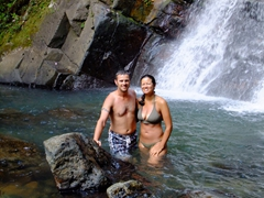 We had La Mina Falls all to ourselves; El Yunque National Park