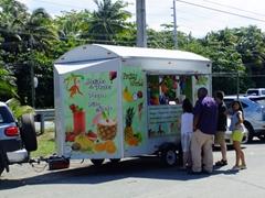 One of the kiosks near Luquillo beach