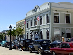 Guayama was hosting an antique car show on the town plaza