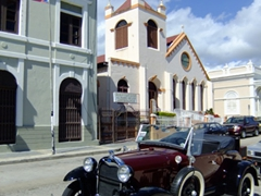 A circa 1928 Ford on display at the Guayama Antique car show