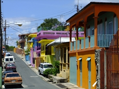 Yauco is a town we happened upon...its brightly colored buildings caught our attention