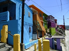 No mention of this town (Yauco) was listed in our guidebook...it was worth a stroll around to take in the brightly hued houses
