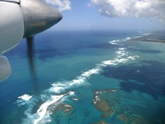 Flying over Puerto Rico in the tiny Air Flamenco plane