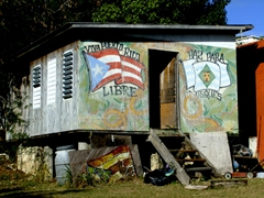 "A ""free Puerto Rico"" shack; Culebra"