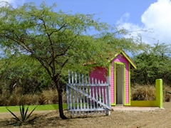 Colorful shack in the middle of nowhere; Culebra