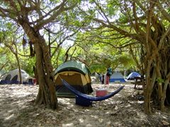 Flamenco Beach's campground area...it was packed during spring break/easter!