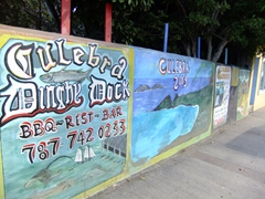 "Advertisements in Dewey, tiny Culebra's biggest ""town"""