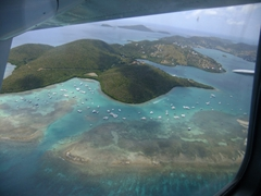 View from our Air Flamenco flight from Culebra to Vieques
