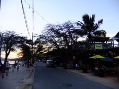 The malecon just after sunset; Vieques