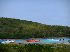 Pretty Bahia de la Chiva (Blue Beach) is one gorgeous beach to chill at; Vieques