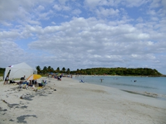 "Next beach stop: Playa Caracas (also known as ""Red Beach""); Vieques"