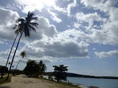 The road from Sun Bay towards Playa Media Luna