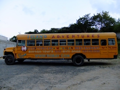 The island adventures bus that took us on the Bio Bay tour...believe it or not but it was packed!