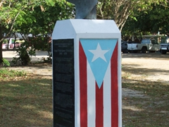 A monument to Angel Rodriguez Cristobal near the waterfront; Esperanza