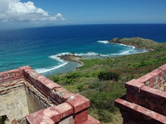 Although the lighthouse has been abandoned for years and is in a state of disrepair, we were able to climb up it to get some nice views of Culebrita