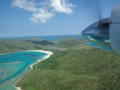 The gorgeous 2 mile stretch of Flamenco Beach is visible from our Air Flamenco flight