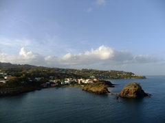 View of St Lucia as we pulled into Castries Harbor