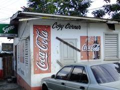 Cozy corner's coca cola stand; Castries