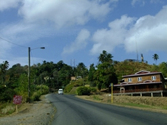 Driving in St Lucia is an adventure...left hand side on narrow, curvy and hilly terrain