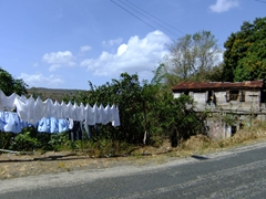 Freshly laundered clothes dry in no time in sunny St Lucia