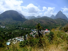 Magnificent mountain ranges of St Lucia
