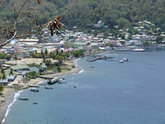 Close up view of Soufriere Bay