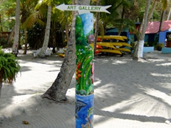 Art gallery this way; Anse Chastanet beach resort