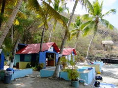 Dive center at the Anse Chastanet beach resort