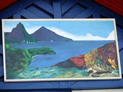 Painting of the Pitons