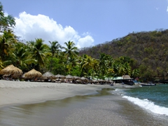 Black sand beach of Anse Chastanet