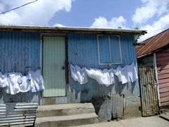 Freshly laundered clothes; Anse La Raye