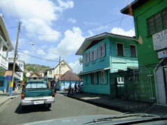 Driving through downtown Castries can be a bit chaotic