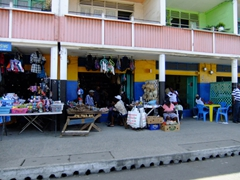 Street side vendors; downtown Castries