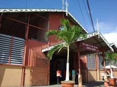 Castries central market entrance