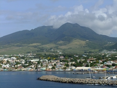 A glimpse of Basseterre as seen from Port Zante
