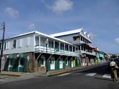 Shops across from Independence Square; Basseterre
