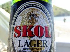 Our beer of choice for our 6 for $10 special on South Frigate Bay
