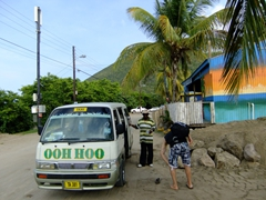 Taxis are a fixed price on St Kitts...this ride cost us $10 back to the Basseterre pier (from South Frigate Bay)