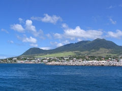 St Kitts' vista from Basseterre harbor