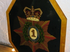 A British military crest of a unit stationed at Brimstone Fortress