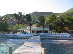 The Turtle Beach Bar & Grill was a great place to spend our afternoon on St Kitts