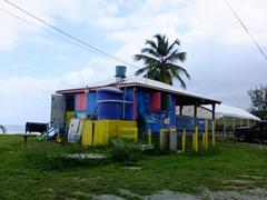 Colorful beach shack; Cane Bay