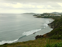 The rugged coastline of St Croix