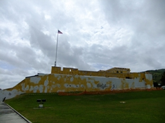 A view of Fort Christiansværn, a historic building in Christiansted