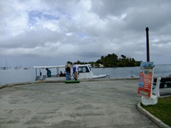 """Water taxi to """"Hotel on the Cay"""" located on Protestant Cay (an island in the middle of Christiansted harbor)"""
